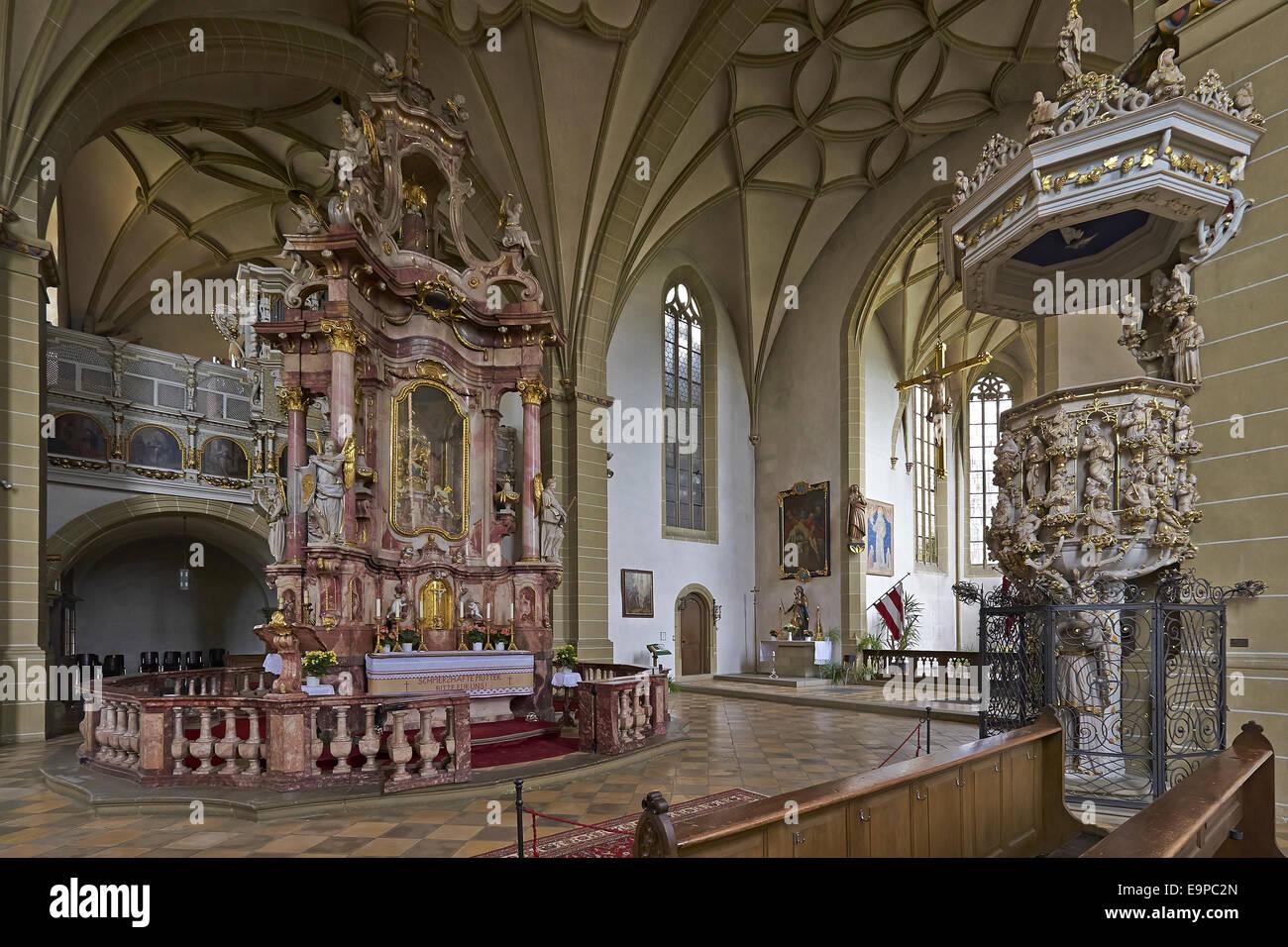 Wallfahrt Kirche Maria Im Sand in der Nähe von Dettelbach, Bayern, Deutschland Stockbild