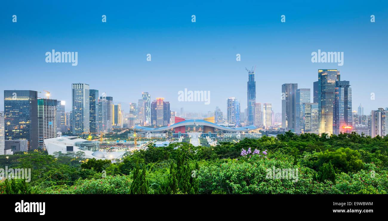 Shenzhen, China Behördenviertel Skyline der Stadt. Stockbild