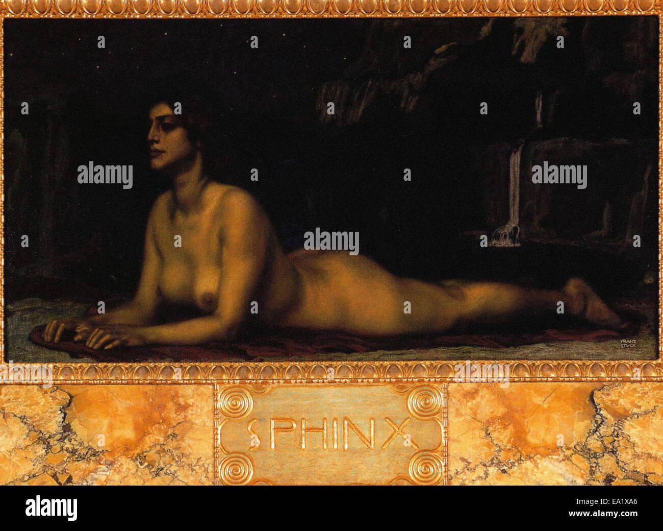 Franz von Stuck Sphinx Stockbild