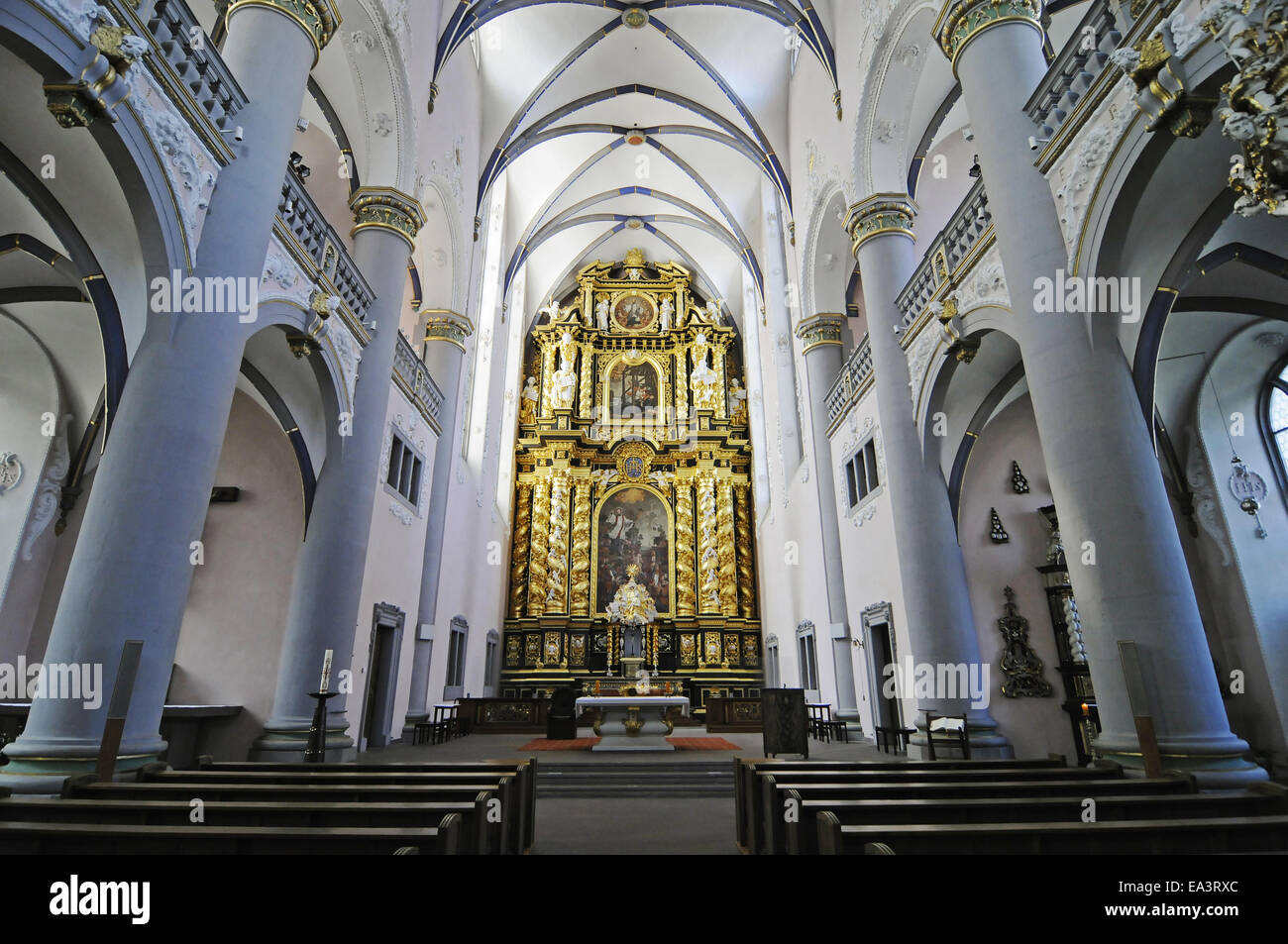 marktkirche church paderborn germany stockfotos. Black Bedroom Furniture Sets. Home Design Ideas