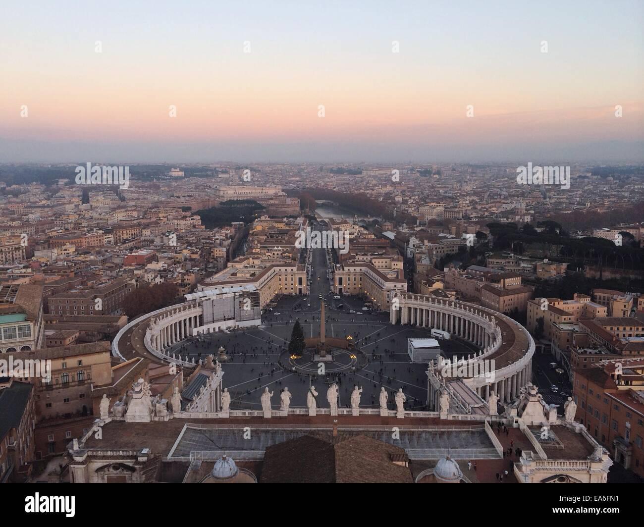 Italien, Rom, Vatikan, Blick auf dem Petersplatz Stockbild