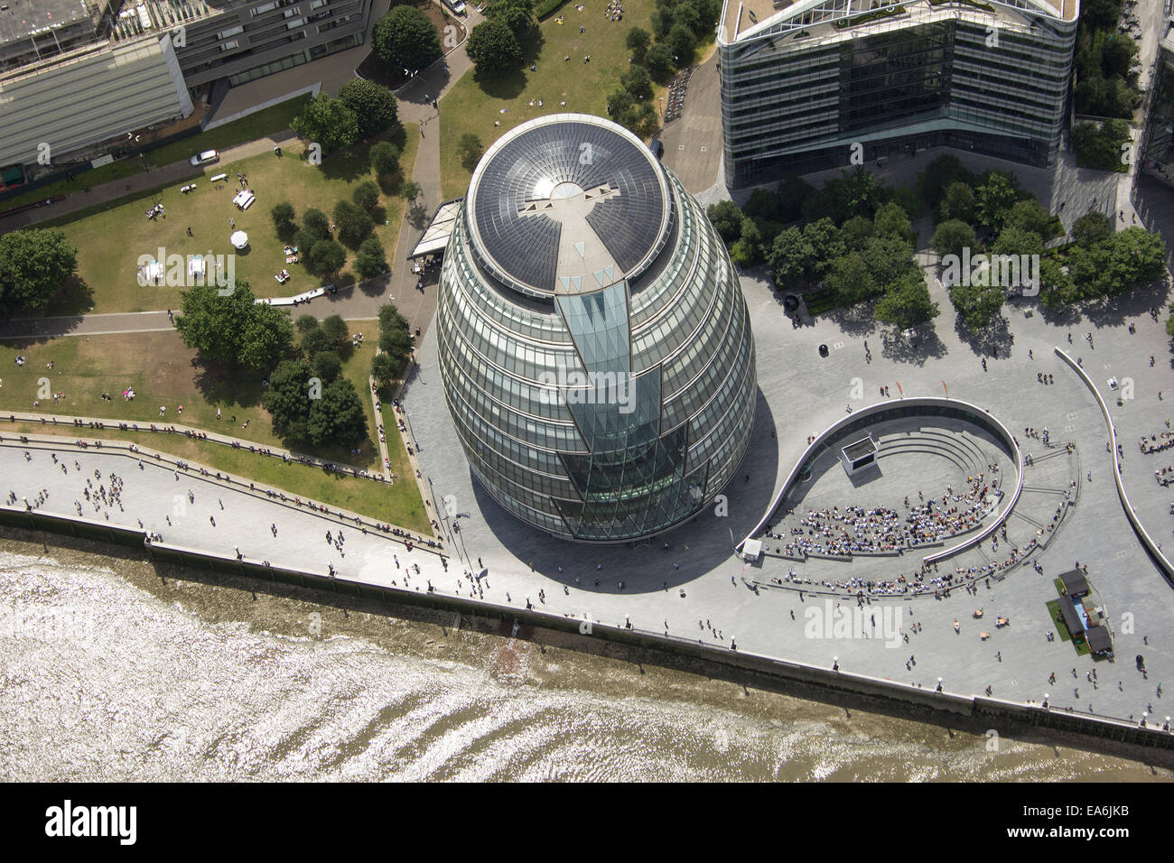 Großbritannien, London, City Hall und die Schaufel Stockbild
