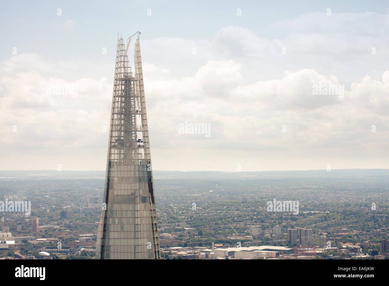 UK, London, Ansicht von Top of The Shard Stockbild