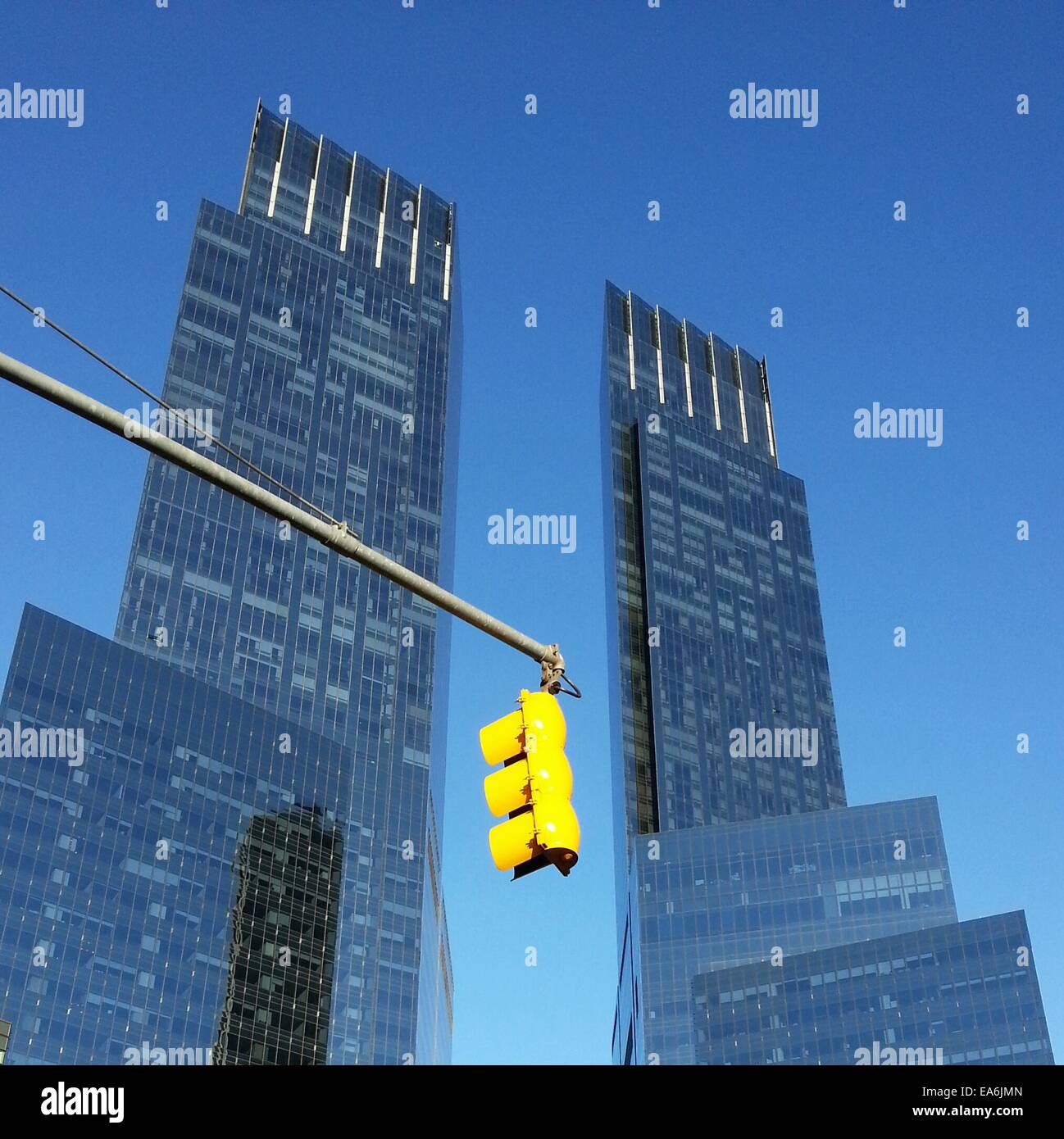 Time Warner Center Wolkenkratzer, Columbus Circle, Manhattan, New York, Amerika, USA Stockbild