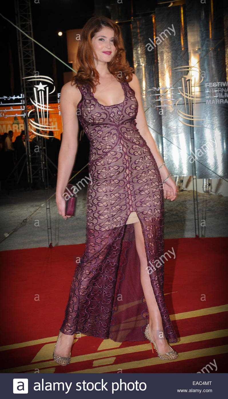 Britische Schauspielerin Gemma Arteton Teilnahme an Festivals der Film Marrakesch. © William Stevens Stockbild