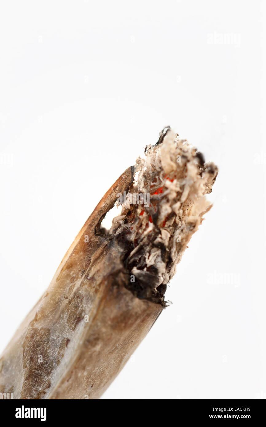 Zigarette - handgemacht - Nahaufnahme Stockbild