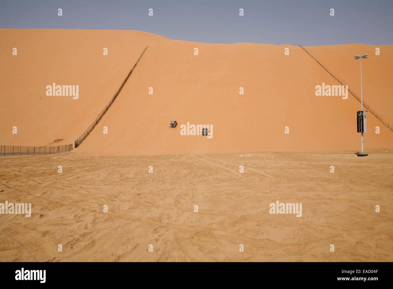 Motorsport im Devils Dune, Abu Dhabi, Emirat Abu Dhabi, Vereinigte Arabische Emirate Stockbild