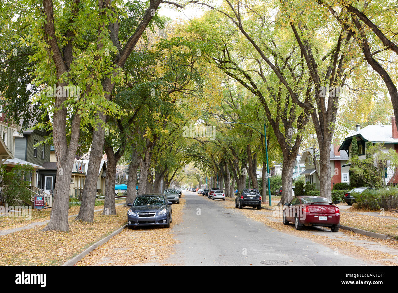 Stadt Park Wohn Erbe Nachbarschaft Saskatoon Saskatchewan Kanada Stockbild