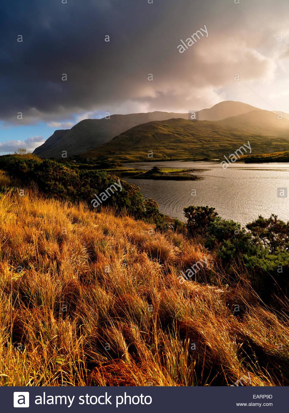 Killary Lough in County Galway in Irland. Stockbild
