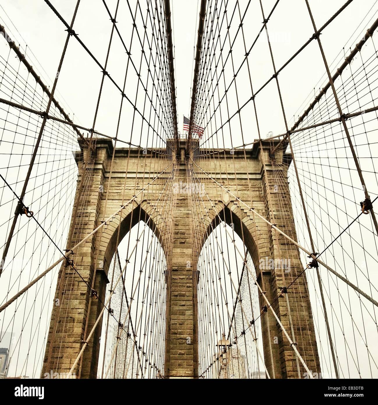 USA, New York State, New York City, Blick auf Brooklyn Bridge Stockbild