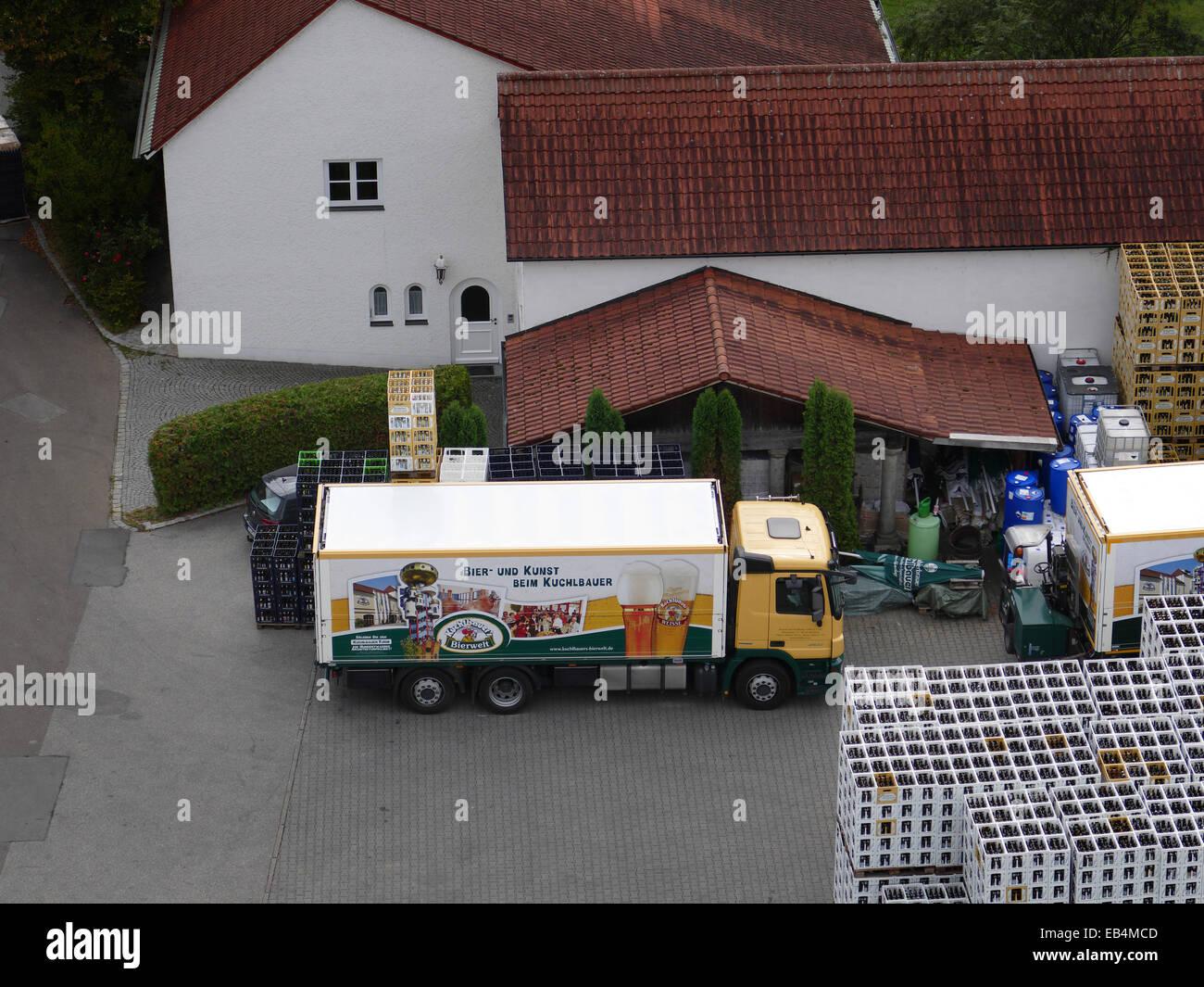 Abensberg Kuchlbauer Brauerei Herstellung Stockbild