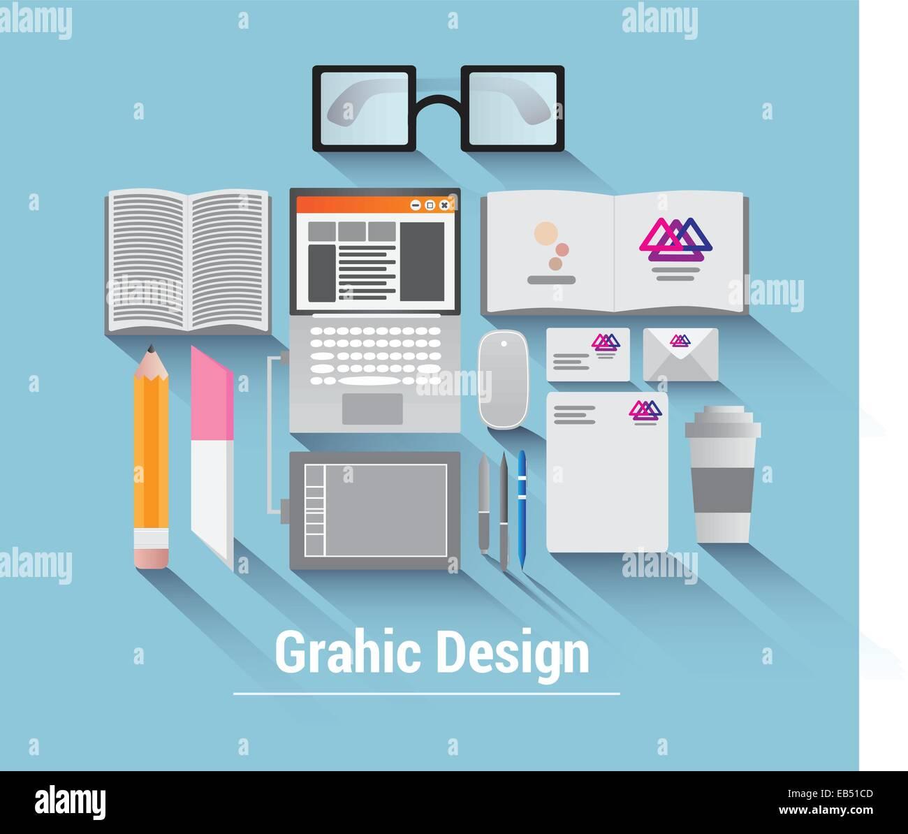 Grafik-Design-Vektor Stockbild