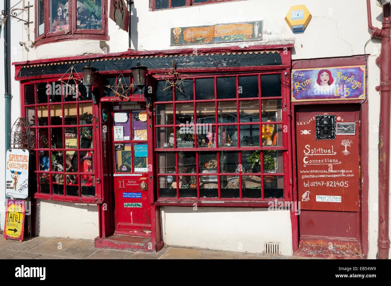 Whitby Shop spirituelle Verbindungen Stockbild