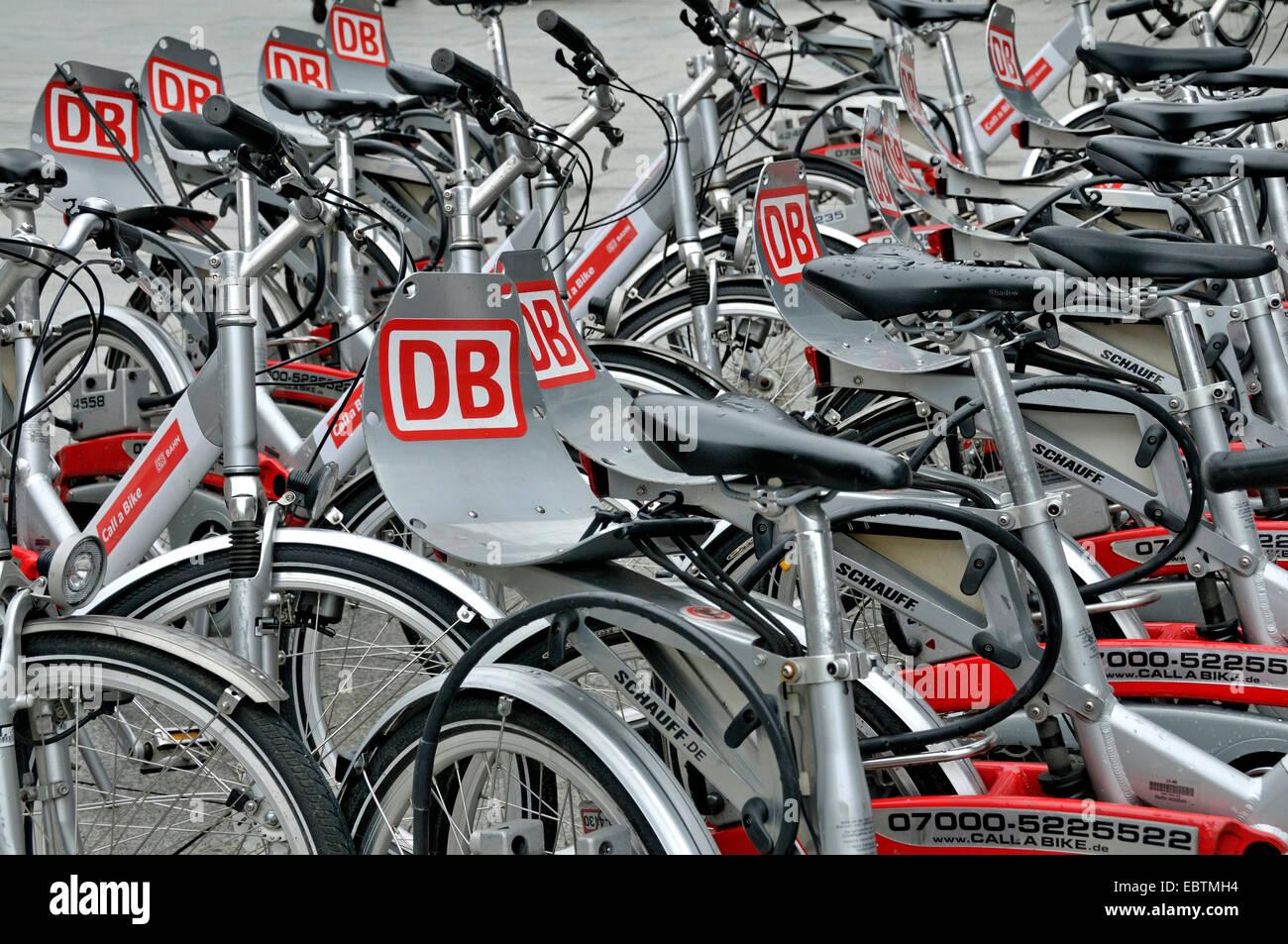 Fahrräder der Deutschen Bahn AG, Deutschland, Köln Stockbild