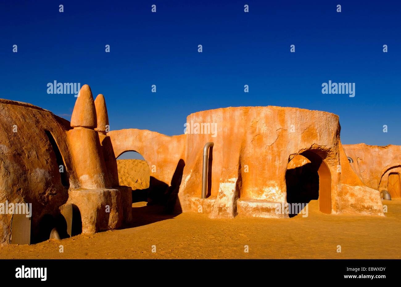 Berühmte Film-Set von Star Wars-Filme in der Sahara Wüste in der Nähe von Tozeur, Tunesien Stockbild
