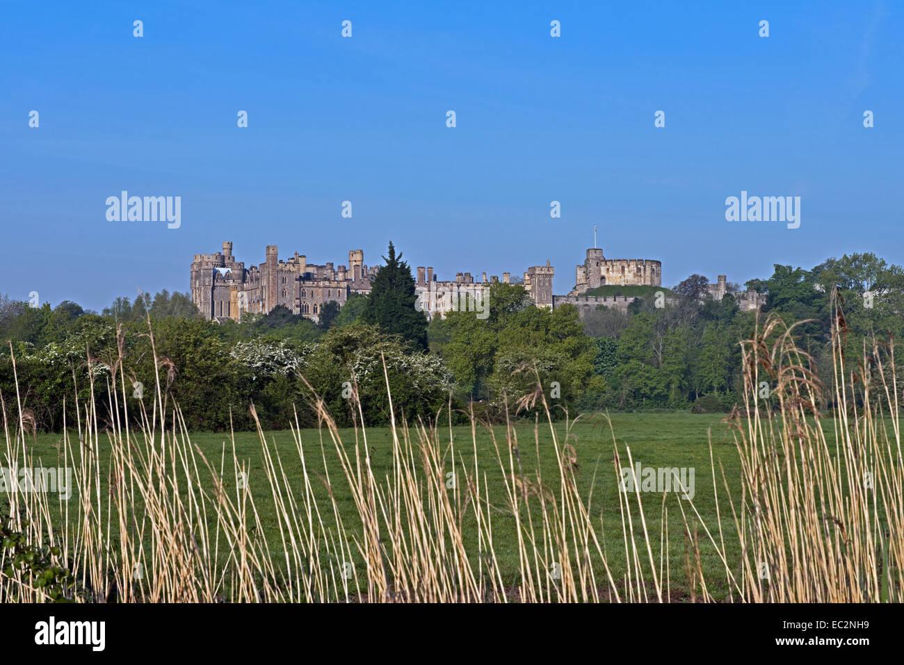 Eine Landschaftsansicht von Arundel Castle, West Sussex, England, Uk. Stockbild