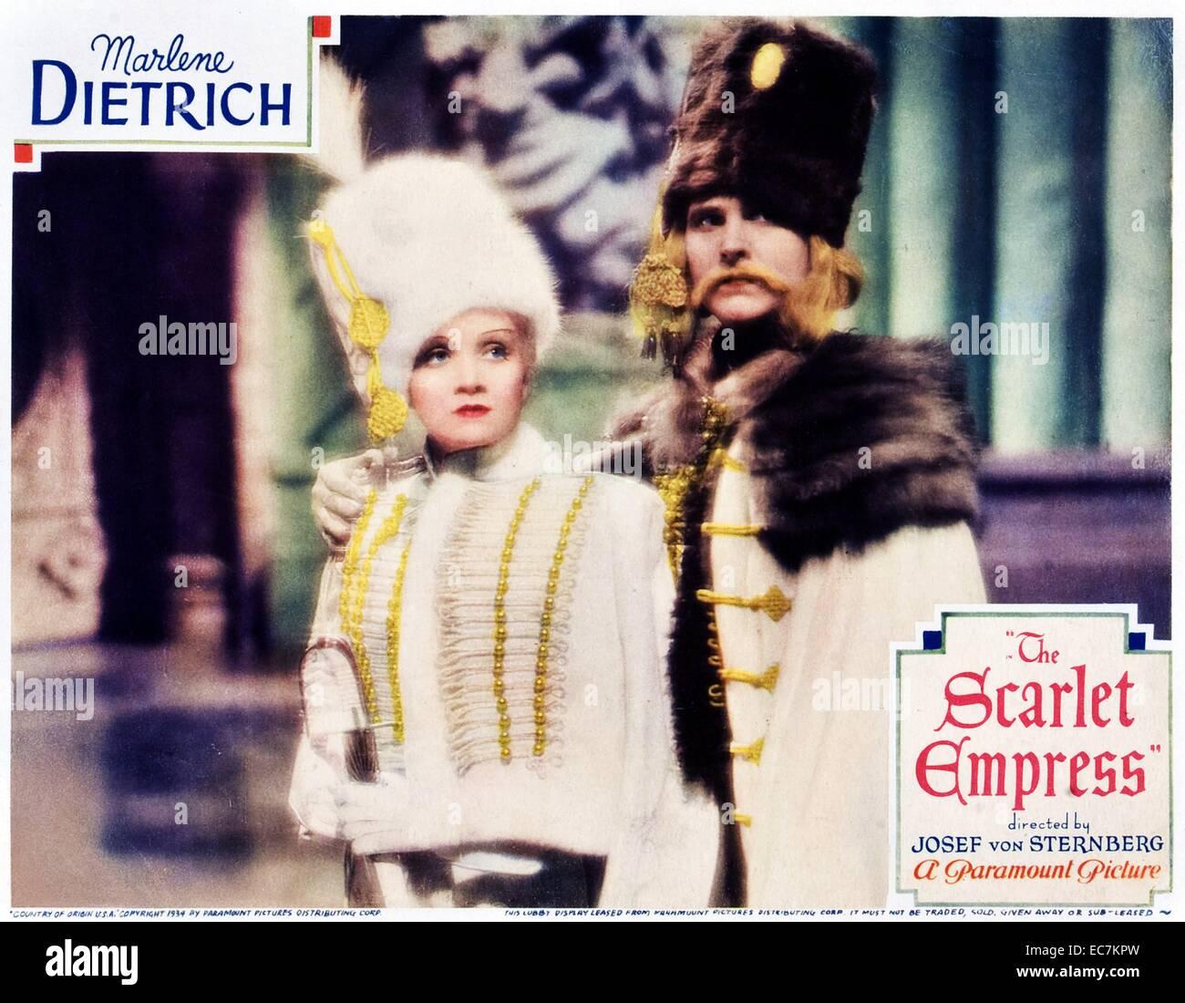 Marlene Dietrich, Deutsch, Schauspielerin, Filme, Film, Kino, Icon, Sänger, Katharina die große, Russland Stockbild