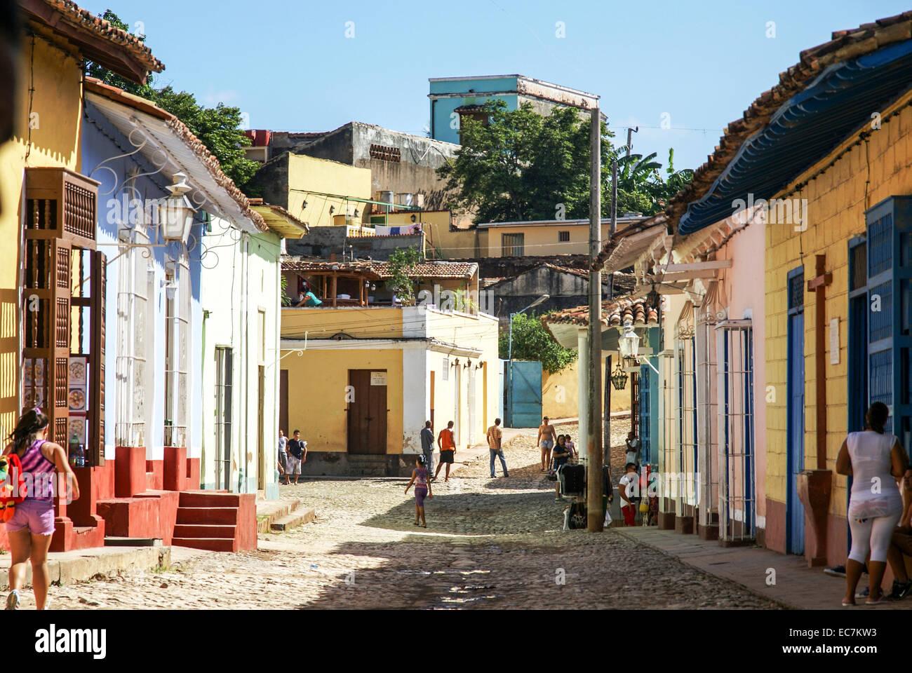 Kuba, Trinidad. Stockbild