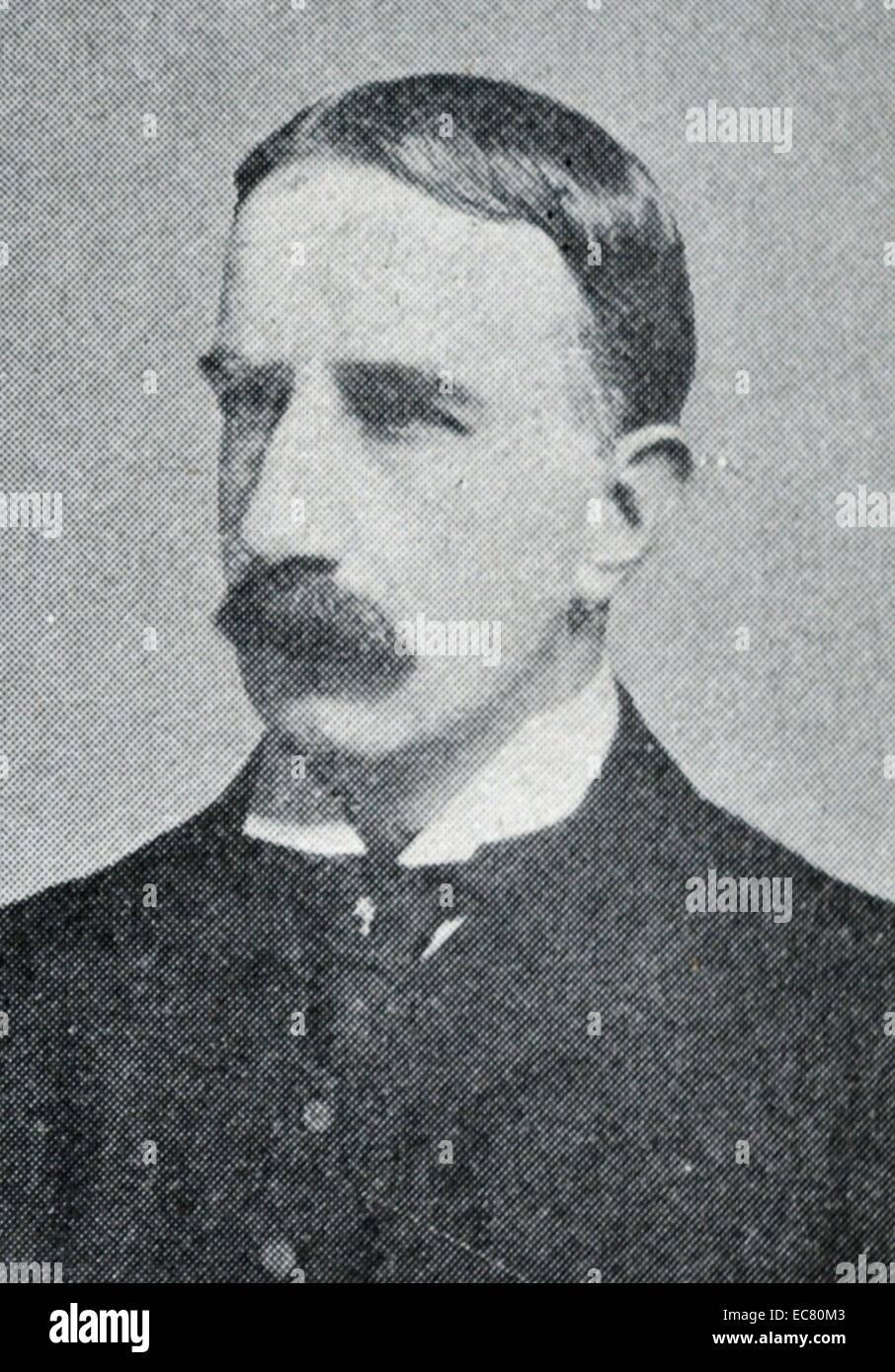 Foto von Sir Clinton Edward Dawkins (1859-1905), ein britischer Geschäftsmann und Beamter. Datiert 1901 Stockbild