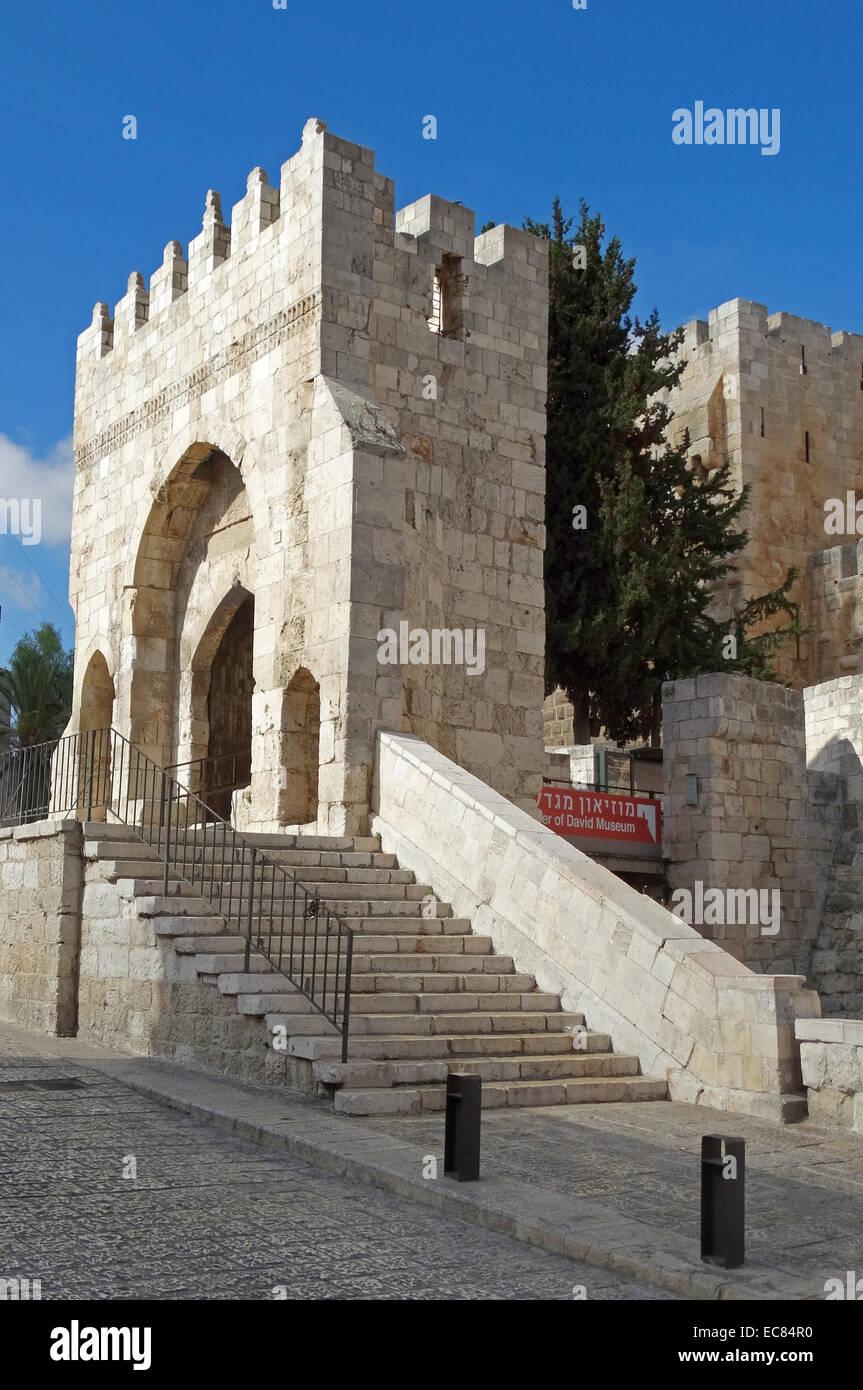 Das Tower of David-Museum der Geschichte von Jerusalem. Stockbild