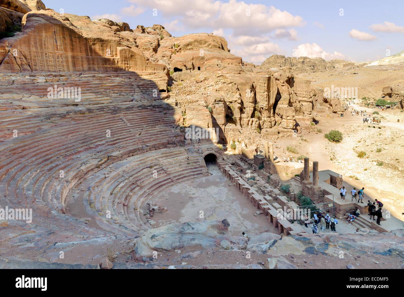 jordan ancient nabataean city petra stockfotos jordan. Black Bedroom Furniture Sets. Home Design Ideas
