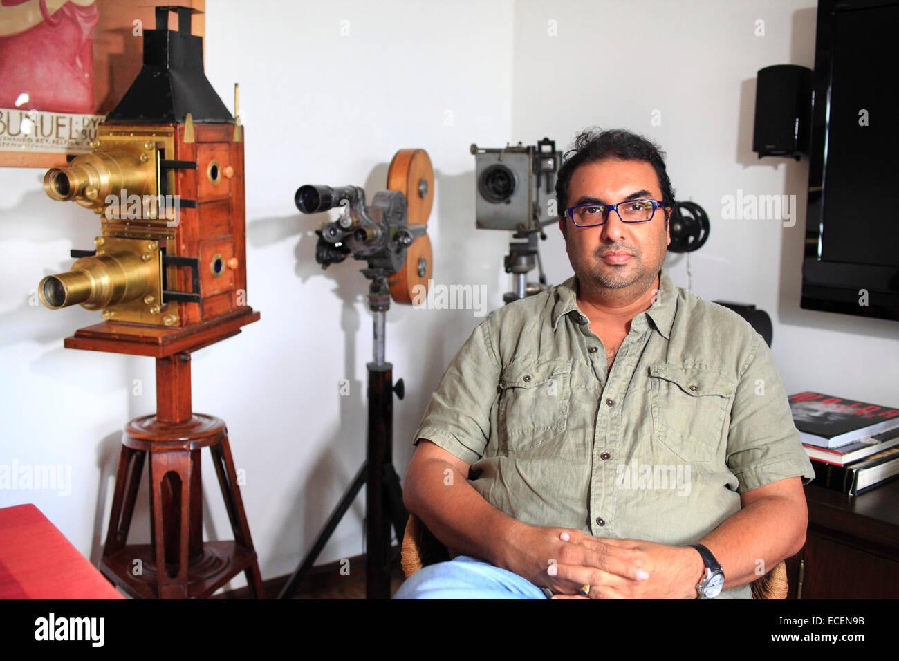 Mumbai, Indien. 14. November 2014. SHIVENDRA SINGH DUNGARPUR ist ein Filmemacher, Film-Archivar und Restaurator Stockbild
