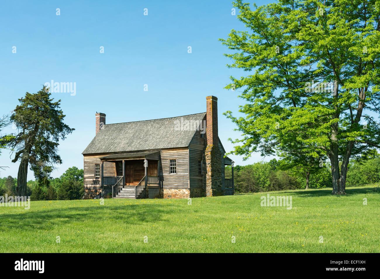 Virginia, Appomattox Court House National Historical Park, Mariah Wright House, gebaut Mitte der 1820er Jahre Stockbild