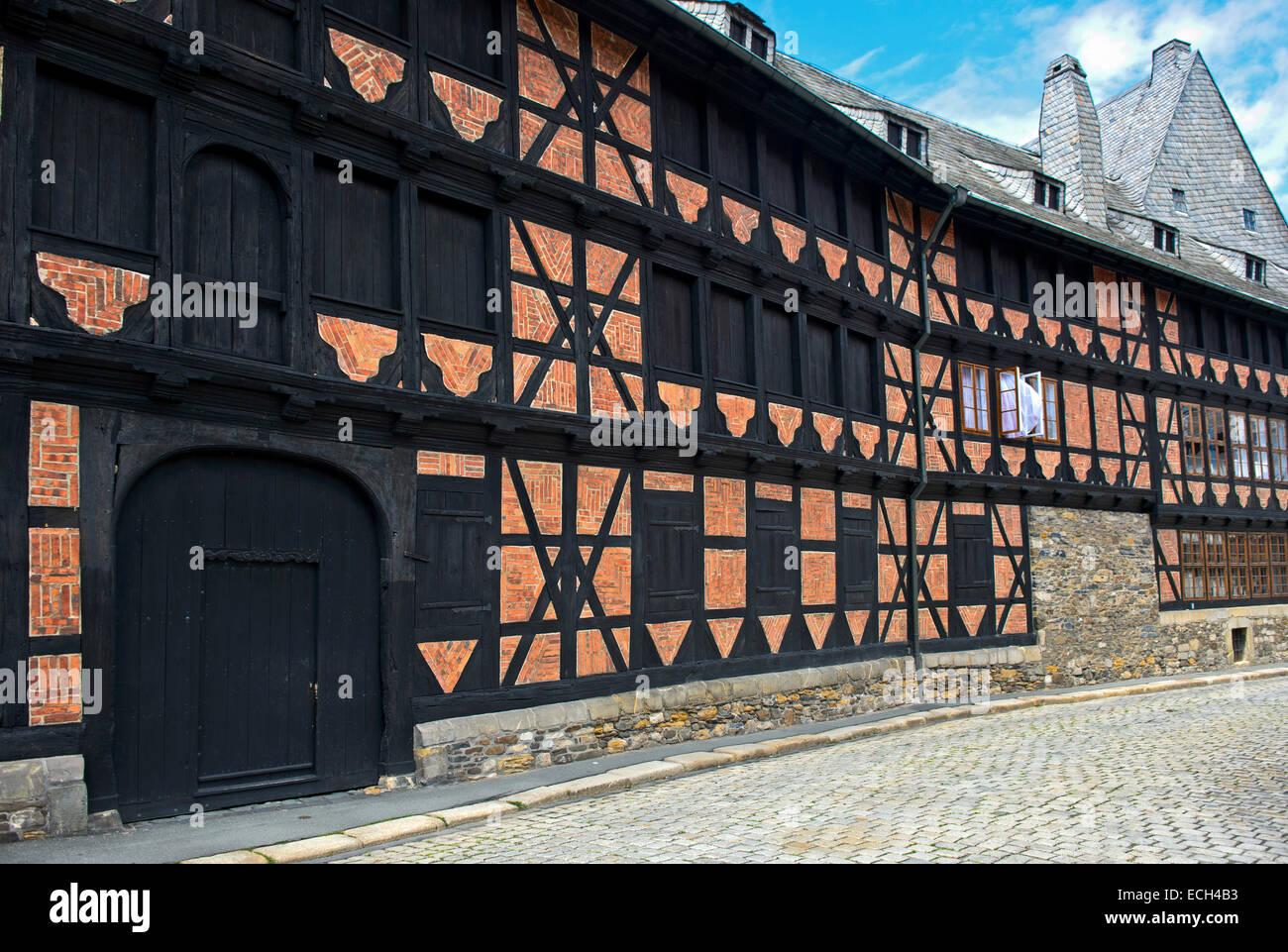 Siemenshaus, Altstadt, UNESCO-Weltkulturerbe, Goslar, Harz, Niedersachsen, Deutschland Stockbild