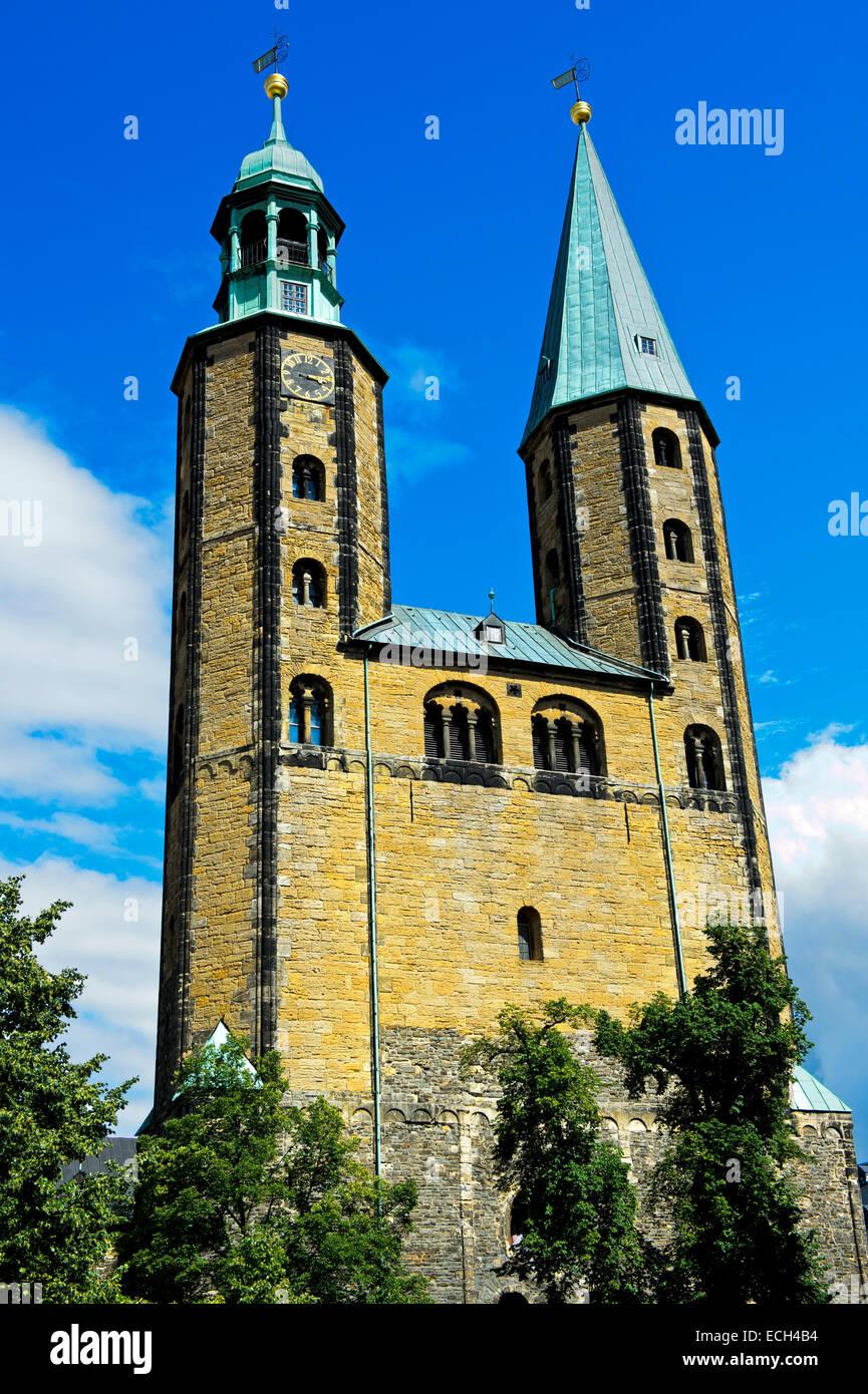 Marktkirche St. Cosmas Und Damian, Altstadt, UNESCO-Weltkulturerbe, Goslar, Harz, Niedersachsen, Deutschland Stockbild