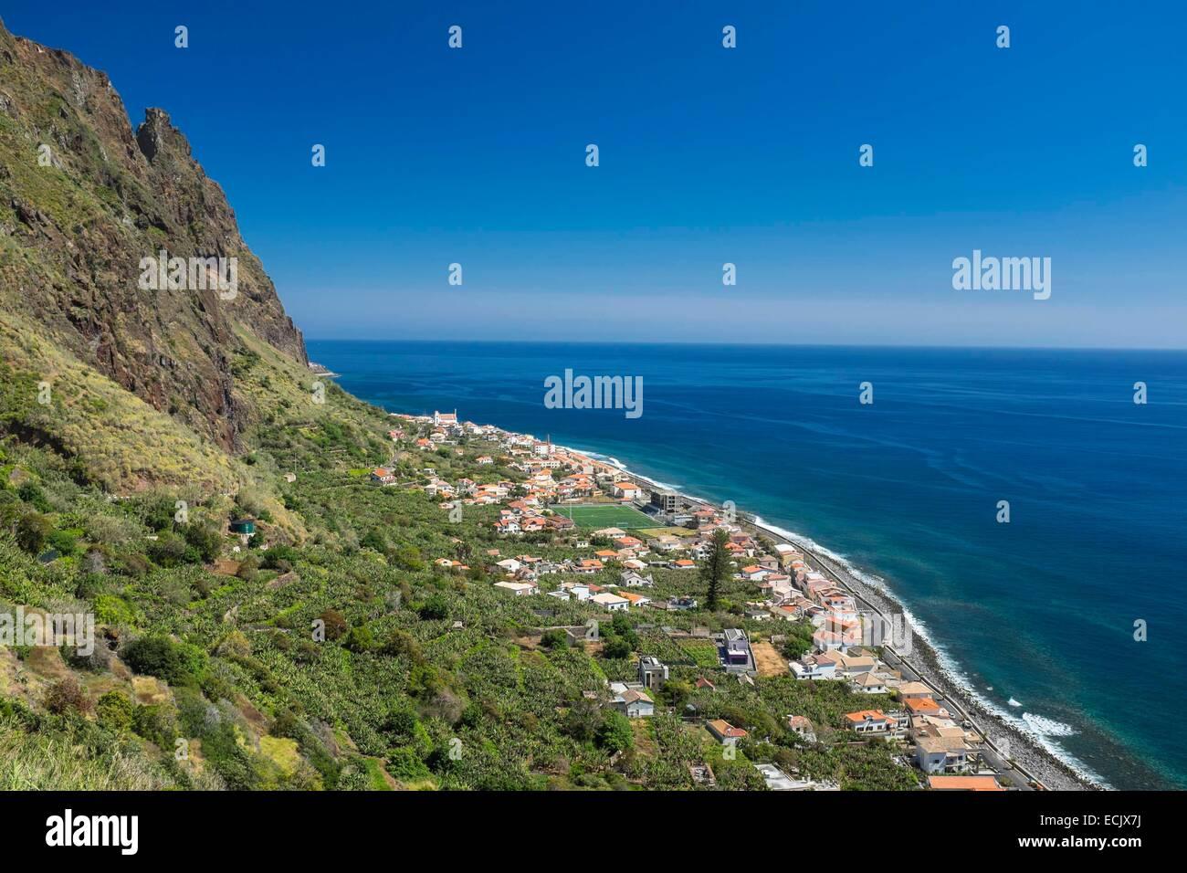 Portugal, Madeira Insel, Südküste, Paul Do Mar Stockbild