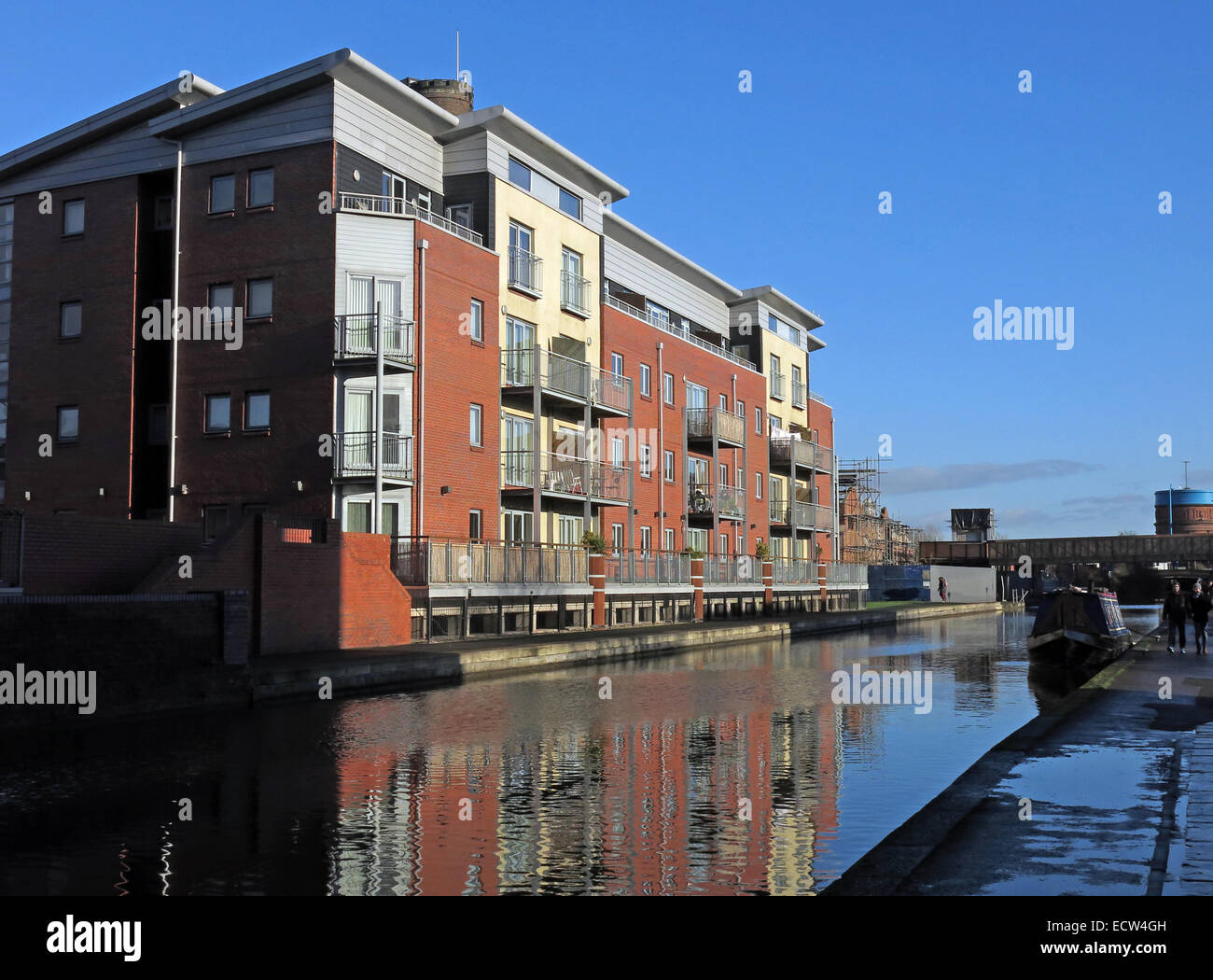 Laden Sie dieses Alamy Stockfoto Chester City Canal Waterfront, Cheshire, England, UK - ECW4GH