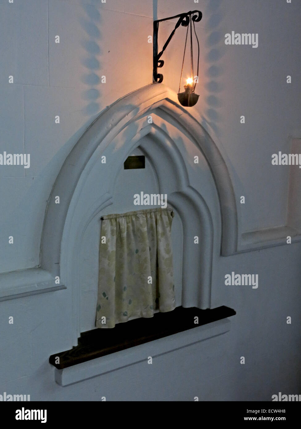 Laden Sie dieses Alamy Stockfoto Holy Trinity Church Woodgreen Witney beleuchtet Tabernakel, West Oxfordshire, England, UK - ECW4H8