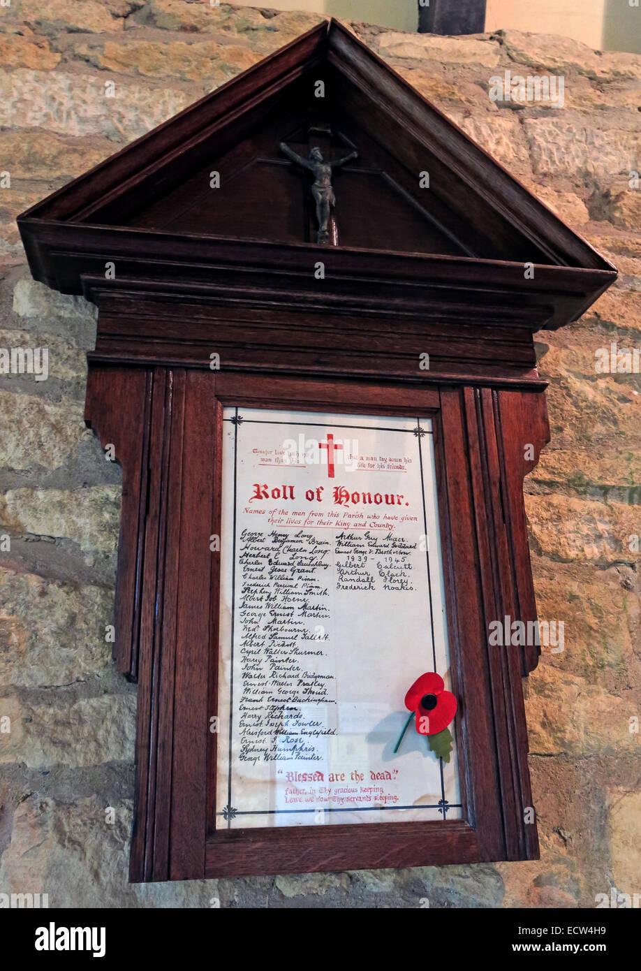 Laden Sie dieses Alamy Stockfoto Holy Trinity Kirche Woodgreen Witney Plaque von Erinnerung, West Oxfordshire, England, UK - ECW4H9