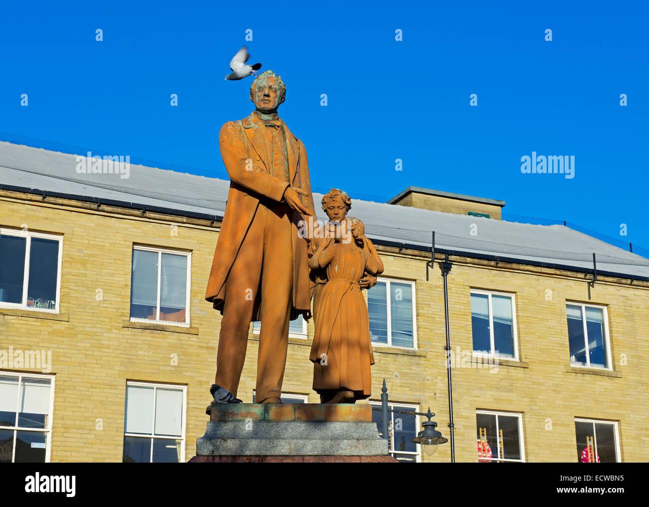 Statue von Richard Oastler, Bradford, West Yorkshire, England UK Stockbild