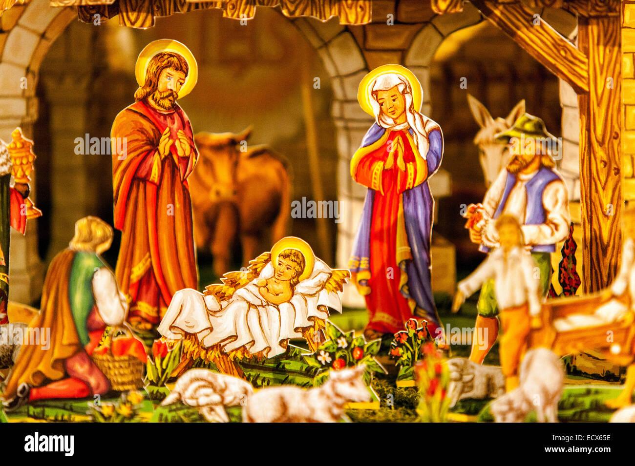 traditionelle tschechische weihnachten krippe. szenen von