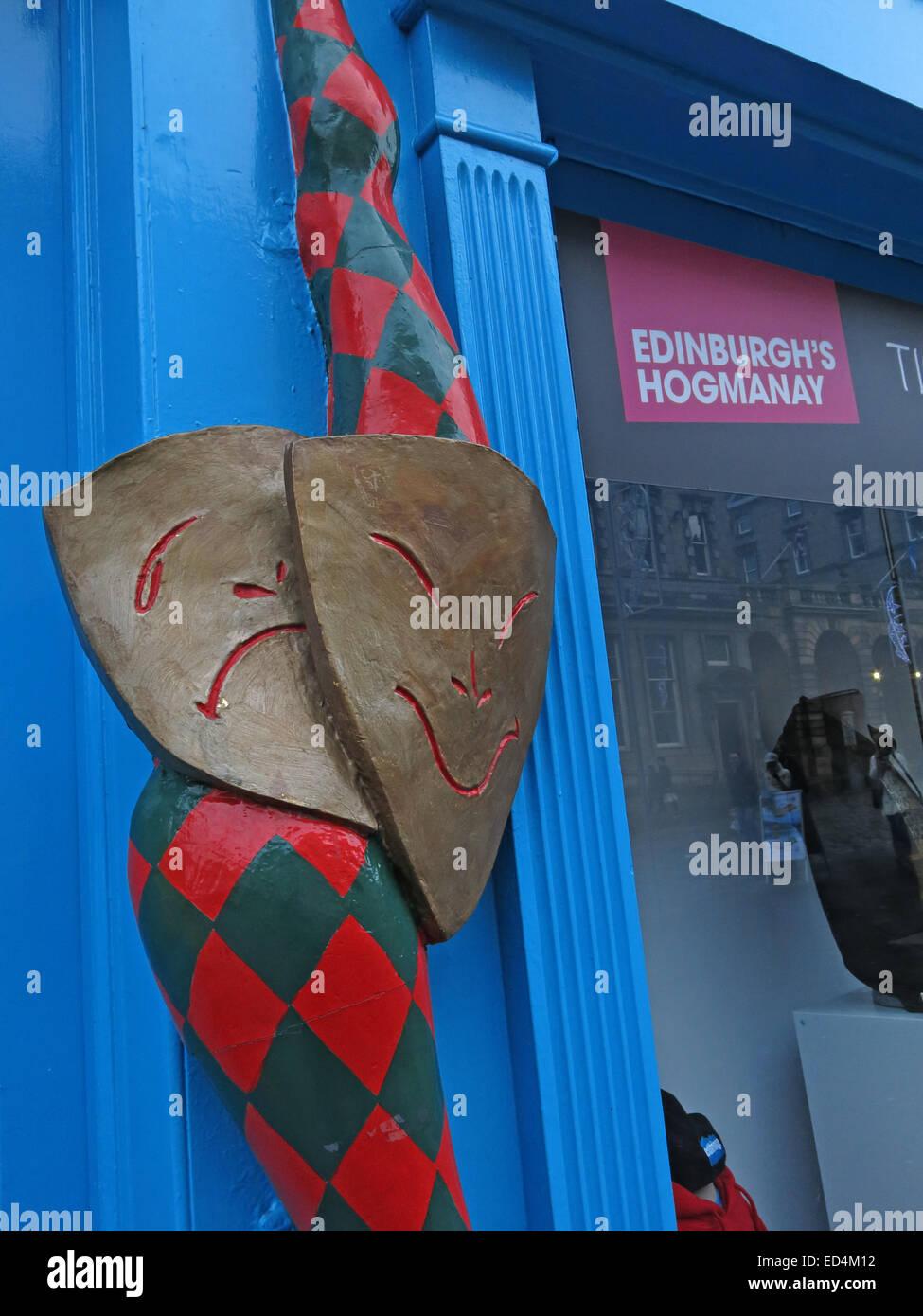 Laden Sie dieses Alamy Stockfoto EdFringe Büro für Hogmanay und Rahmenveranstaltungen, Royal Mile, Edinburgh, Scotland, UK - ED4M12