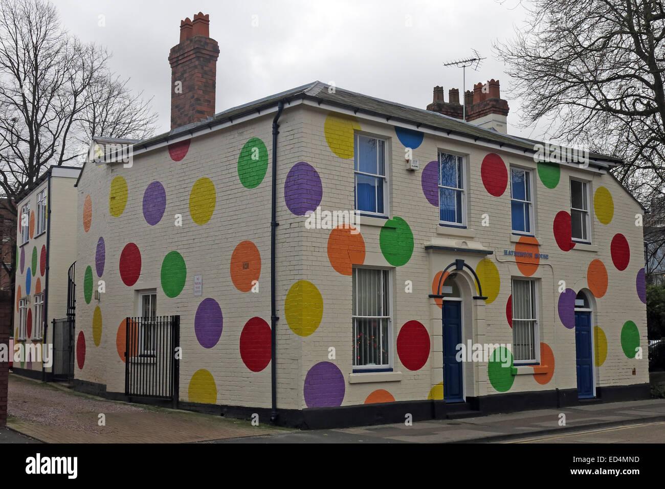 Laden Sie dieses Alamy Stockfoto Hatherton House mit Flecken Top-Marken bauen Spotty Zentrum, Walsall, West Midlands, England, GB - ED4MND