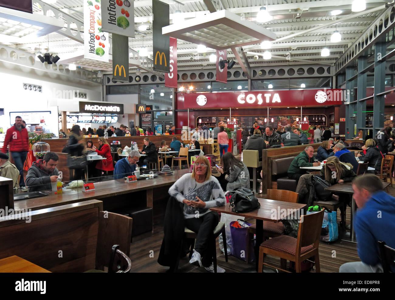 Laden Sie dieses Alamy Stockfoto Strensham Roadchef Dienste, Costa Coffee, M5, Upton auf Severn, Worcester, England, UK - ED8PR8