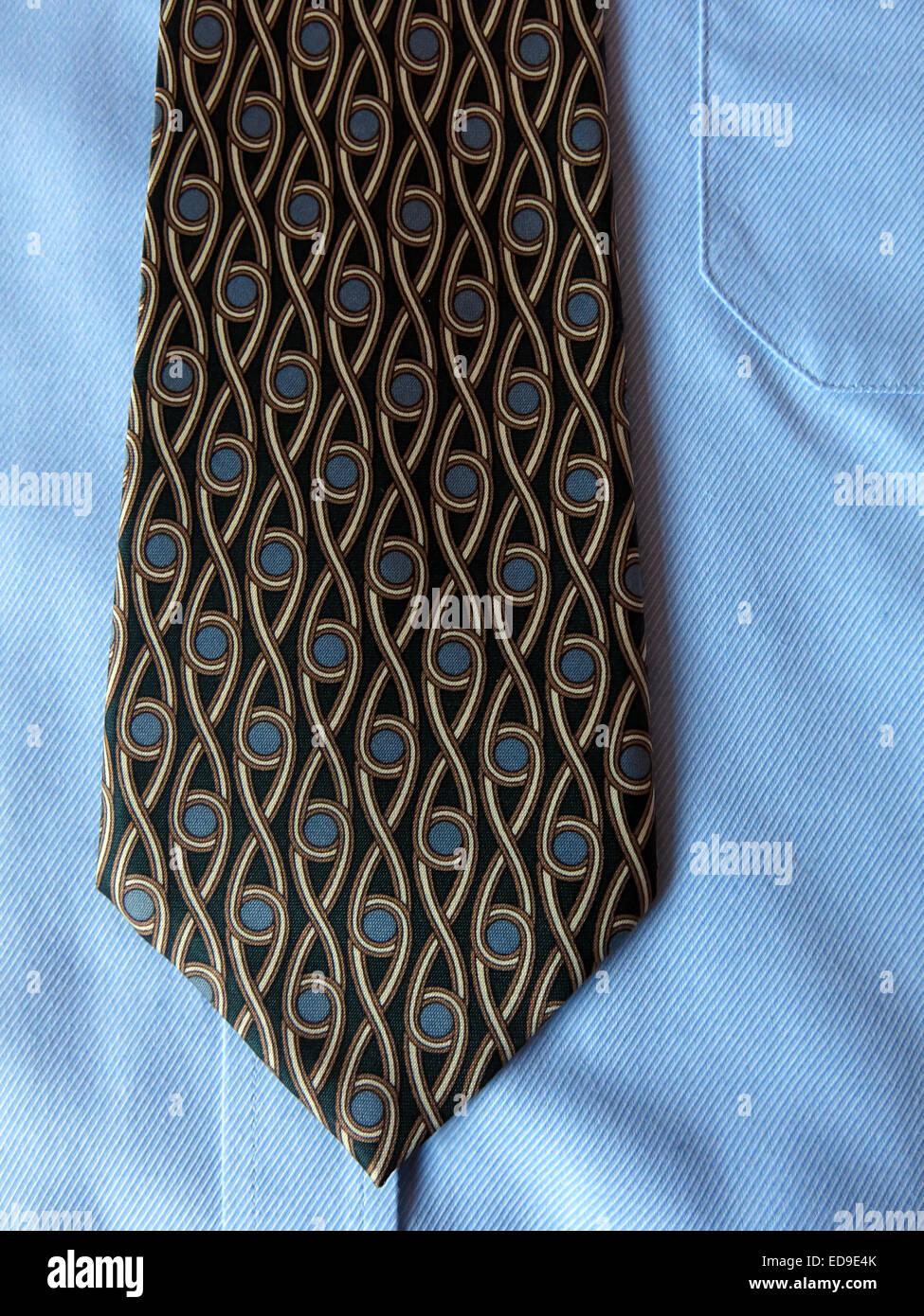 Laden Sie dieses Alamy Stockfoto Interessante Oldtimer Isrida Krawatte, männliche Antik in Seide - ED9E4K