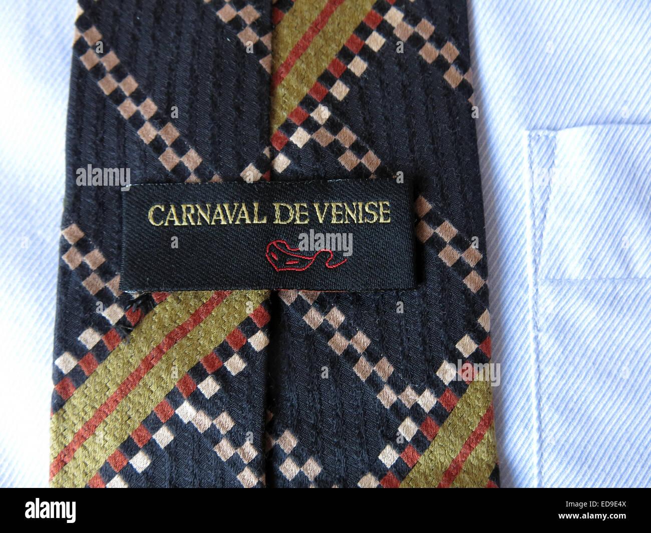 Laden Sie dieses Alamy Stockfoto Interessante Oldtimer Carnaval De Venise Krawatte, männliche Antik in Seide - ED9E4X