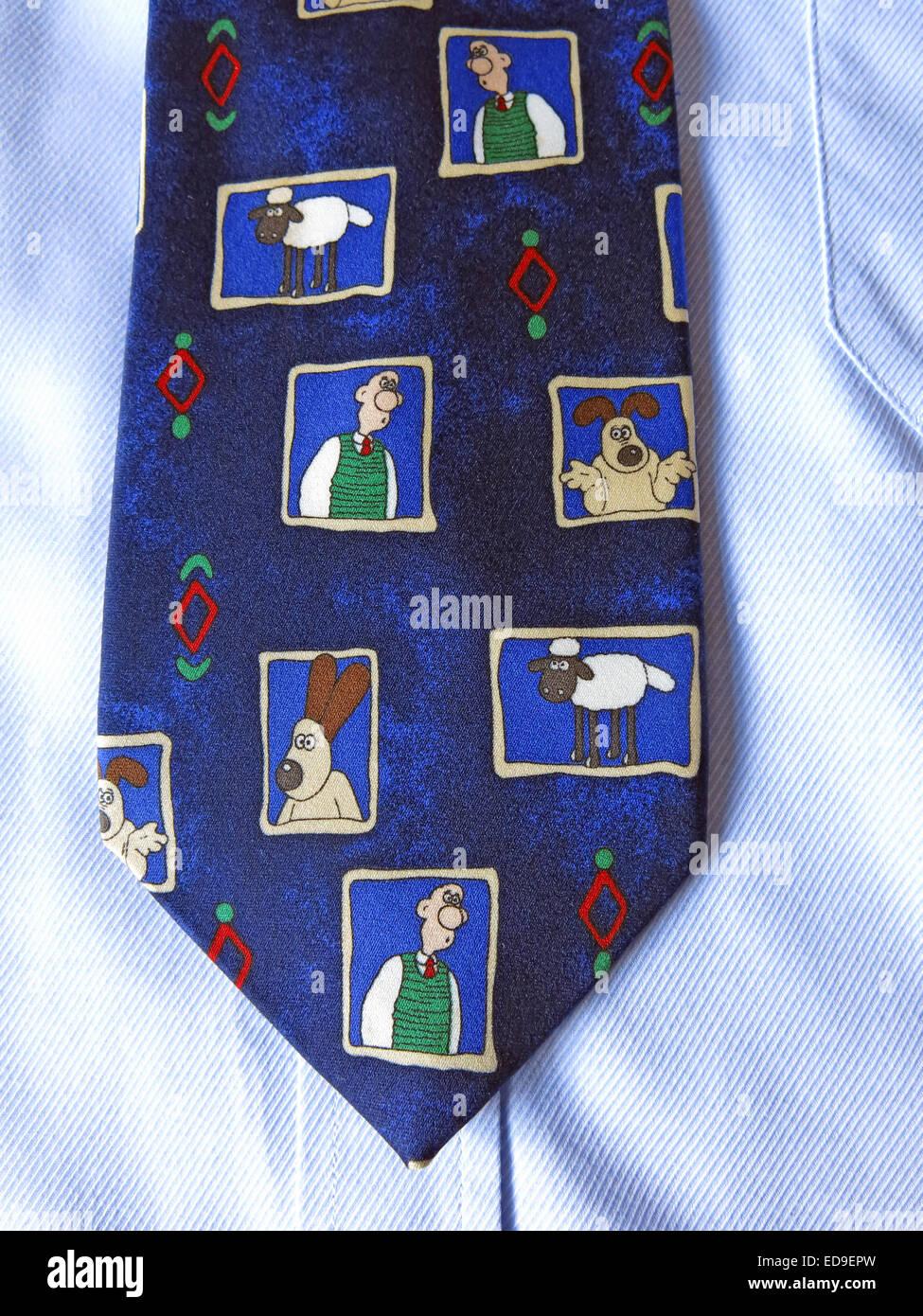 Laden Sie dieses Alamy Stockfoto Interessante Wallace & Tülle Komödie Krawatte, männliche Antik in Seide - ED9EPW