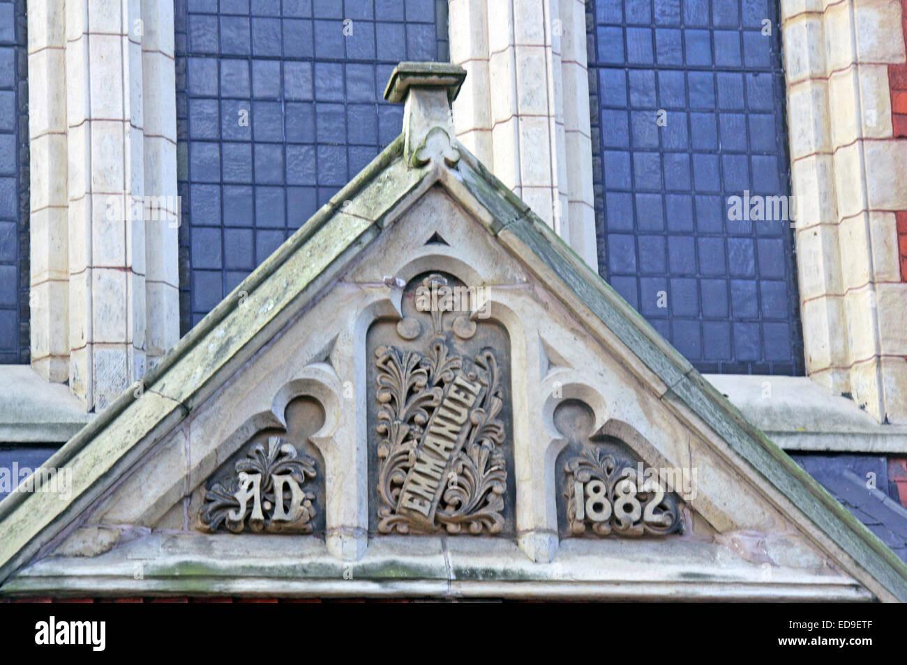 Laden Sie dieses Alamy Stockfoto Emmanuel Kirchgemeindehaus Fett AD 1882 St Warrington, Cheshire, England, UK - ED9ETF