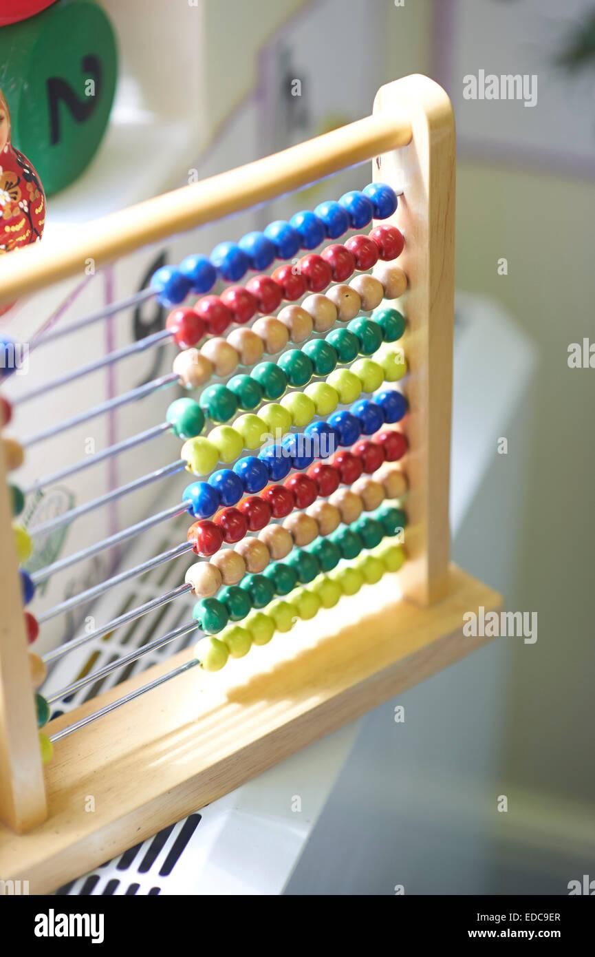 Schule-Abakus Stockbild