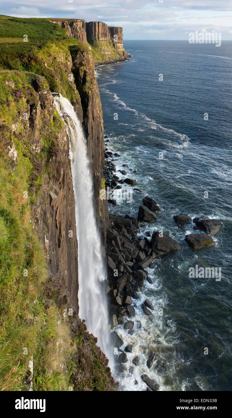 Kilt Rock Wasserfall staffin Trotternish skye Stockbild