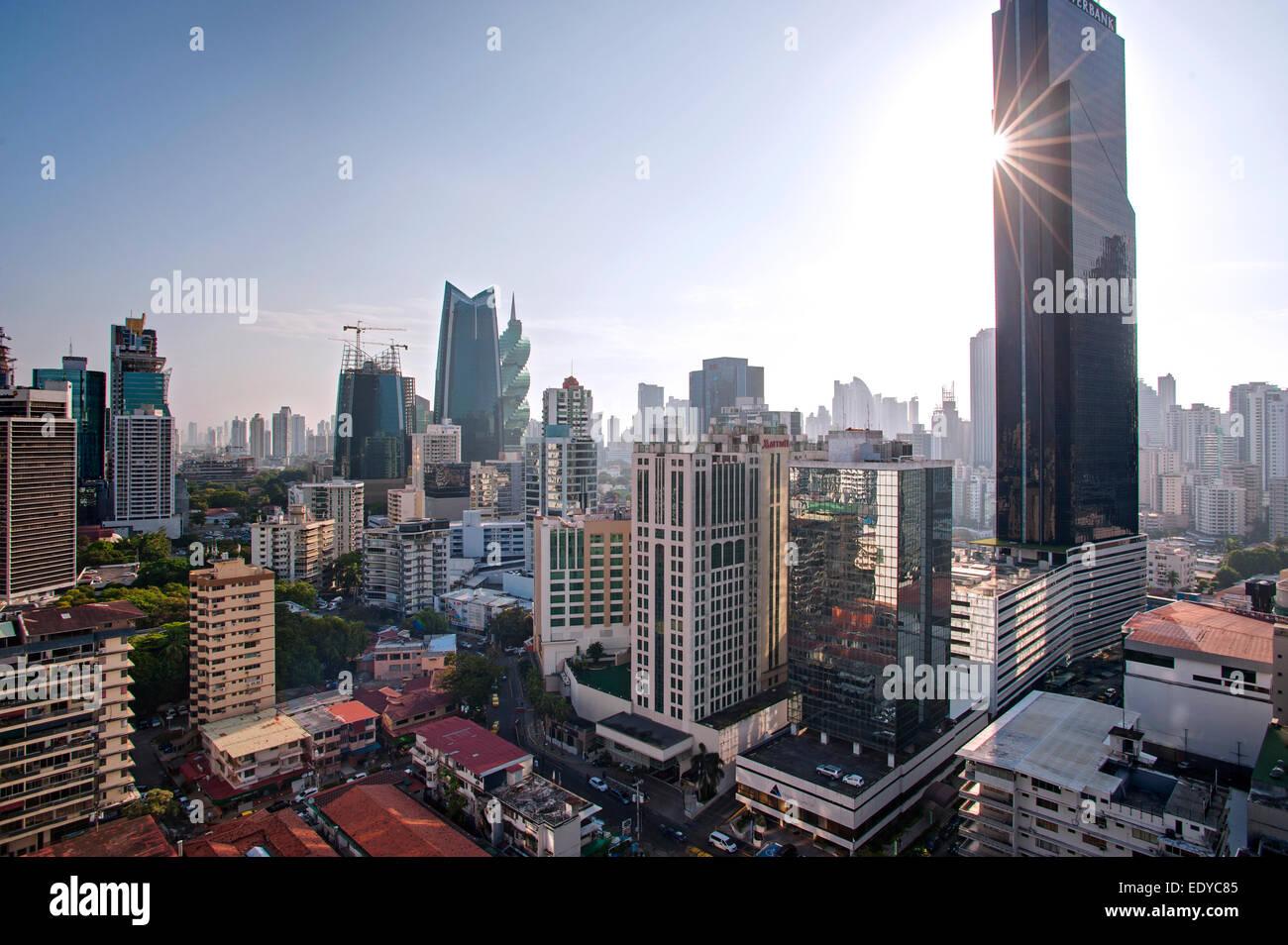 Skyline von Panama City, Panama Stockbild
