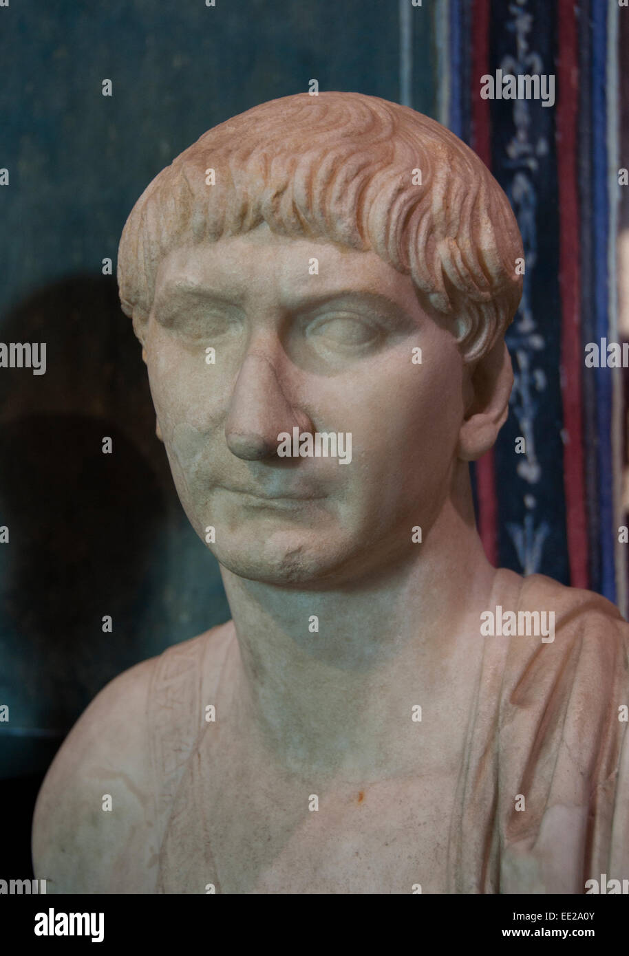 Trajan - Marcus Ulpius Nerva Traianus Augustus 53-117 n. Chr. römischer Kaiser Rom Italien Italienisch Stockbild