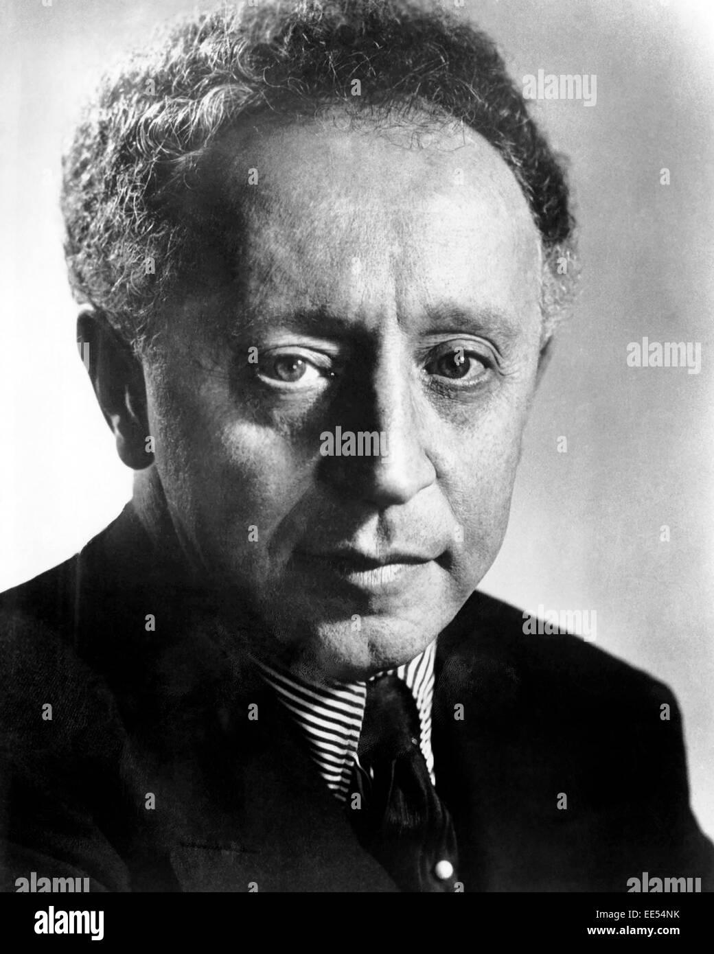 """Artur Rubinstein, Werbung Portrait für den Dokumentarfilm, Film, """"der Männer und Musik"""", 1951 Stockbild"""