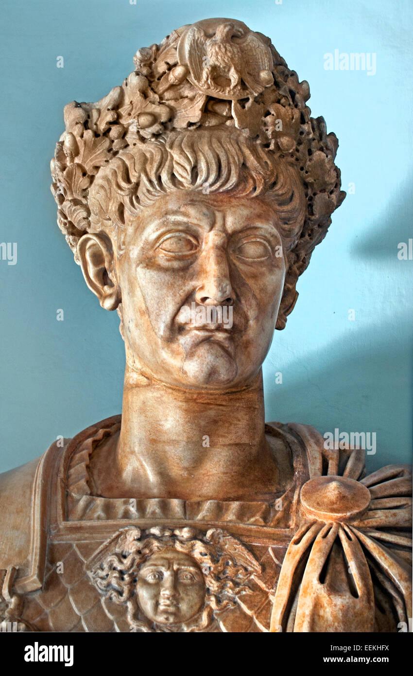 Büste des Kaisers Trajan 98-117 n. Chr. römische Rom Capitoline Museum Italien Italienisch Stockbild