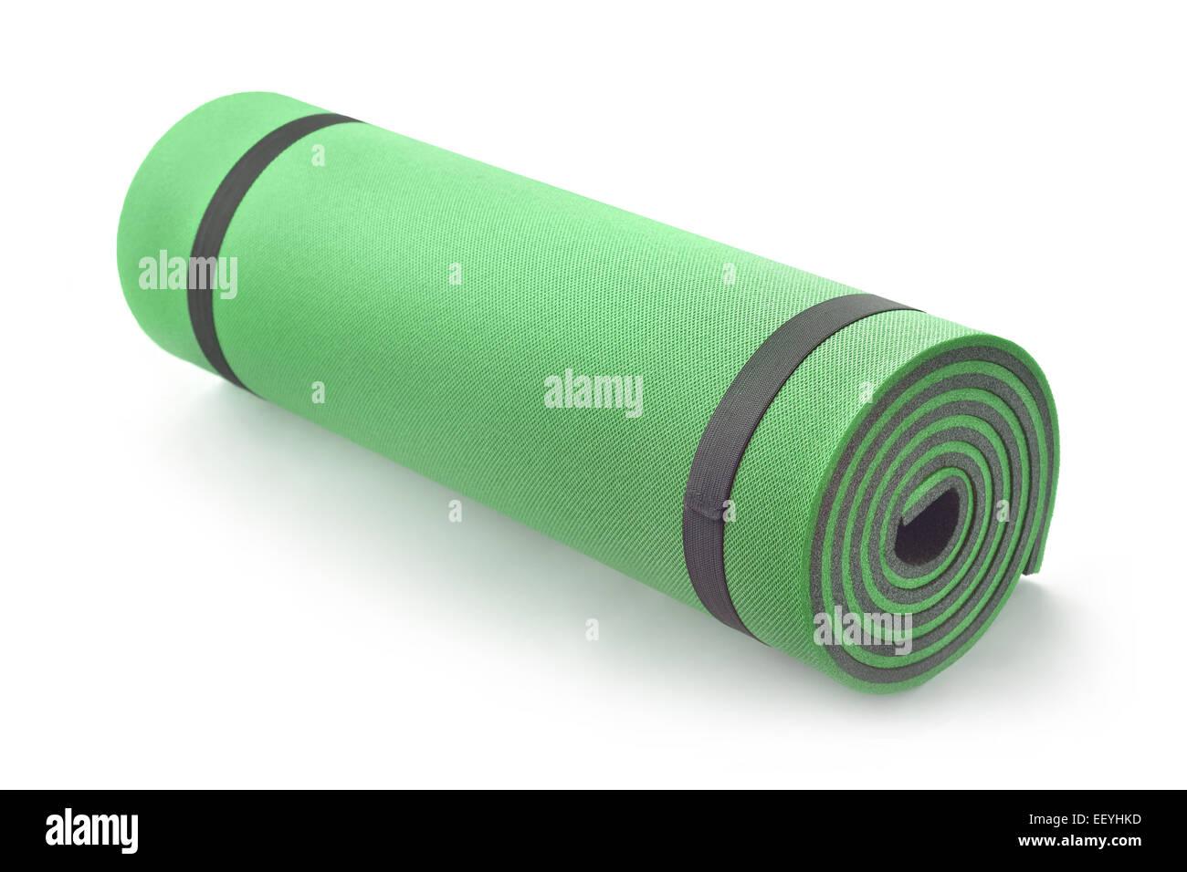 Fitness-Isolierung-Matte auf weiß Stockbild