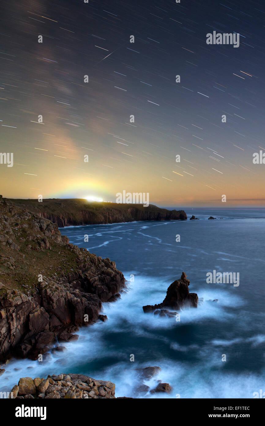 Shooting Star; Lands End; Cornwall; UK Stockbild